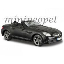 MAISTO 31206 MERCEDES BENZ SLK CLASS 1/24 DIECAST MODEL CAR MATTE BLACK