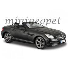 MAISTO 31206 MERCEDES BENZ SLK CLASS 1/24 DIECAST MODEL CAR MATTE BLACK