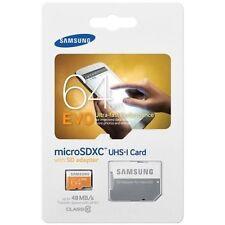 Samsung Evo 64GB MicroSDXC MicroSD XC Class 10 Memory Card for GoPro Hero3 HERO+
