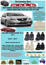 Holden Commodore VF/VF2 13-18 Genuine Sheepskin Car Seat Covers Pr 22MM AbagSafe