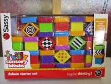 Preschool Sensory Blocks Deluxe Starter Set 40 Pieces Numbers Textures Patterns