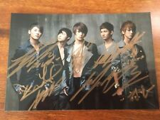 hand signed TVXQ 東方神起 autographed group photo 4*6 limited ver K-POP