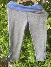 Roxy yoga pants leggings M gray and blue