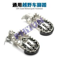 Left+Right Motorbike Off-road Bike Foot Pegs Protector Guard Pad SS Pedals Rest