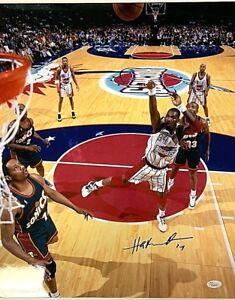 Hakeem Olajuwon Signed 16X20 Photo JSA Houston Rockets W360755