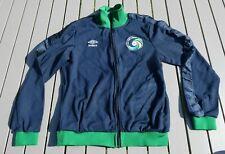 New York Cosmos Umbro Football Zipper Jacket Blue And Green Size Medium M