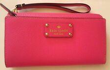 Kate Spade Wellesley Layton Pink Leather Large Zip Wallet Wristlet WLRU1779