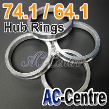 MISSION SPEED 74.1mm 64.1mm HUB CENTRIC RING WHEEL HUB CENTRE SPACER ALUMINIUM