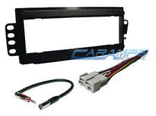 PONTIAC CAR STEREO RADIO CD PLAYER INSTALLATION DASH MOUNT TRIM KIT WITH HARNESS