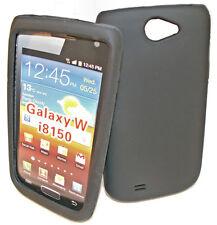 SILICONE TPU Case Cover per Cellulare Nero Samsung i8150 GALAXY W + Proteggi Schermo
