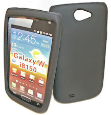 SILIKON TPU COVER HANDY CASE SCHWARZ SAMSUNG i8150 GALAXY W + Displayschutzfolie