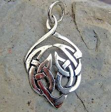 magischer keltischer Kraftvogel  925 Silber Anhänger Keltenschmuck Druiden
