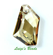 1 Crystal Golden Shadow Swarovski #6670 De-Art Pendant Pendat Bead 24mm