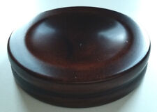 Wood Piano Caster Cups - Standard Size - Mahogany Satin Finish