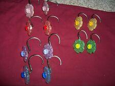 SPRINGS Flower Shower Curtain Hooks Set of 12  EUC