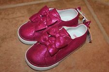 NWT Gymboree Charm Class Size 10 Pink Shimmer Bow Tennis Shoes