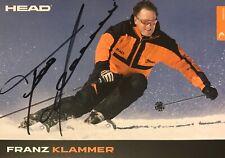 Autogramm Franz Klammer Skirennläufer Österreich Olympiasieger 1976 Innsbruck #