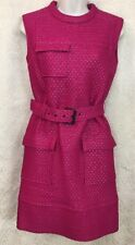 Lanvin Dress fuchsia Quilted Belted Sleeveless Nwt$3875 Size 34 (2)