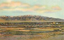 Linen Postcard; Sandia Mountains, Albuquerque NM Unposted Bernalillo County