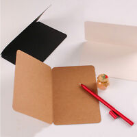DIY Blank Greeting Mini Card Vintage Kraft Paper Gift Craft Message Note Cards