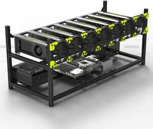 Veddha 8 GPU Stackable Open Air Mining Case Computer Frame Rig Bracket ETH/BTC