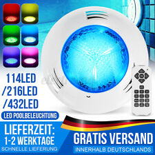 432 LED RGB Schwimmbad Lampe Poolbeleuchtung Teichbeleuchtung Unterwasserlampe