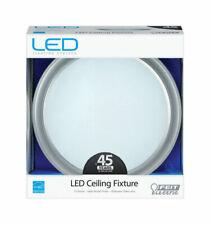 FEIT ELECTRIC LED Ceiling Light Fixture, Flush Mount, Round, Brushed Nickel, 21-