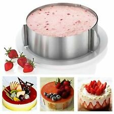 16-30cm Retractable Stainless Steel Circle Mousse Ring Baking Tool Set Cake Mold