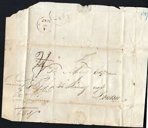 1817 Irish wrapper to London,octagonal 1817 mark & Loughbrickland in red