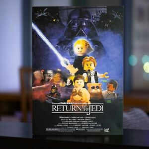 LEGO Star Wars Return of The Jedi 1983 Theatrical Poster - A3