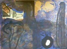 Eduardo Arranz-Bravo Casa negra 1988 Hand signed numbered Litho Spanish Artist