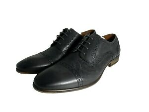 NIB Mens Kenneth Cole Reaction Fin Lace Up Grey Oxfords Shoes SZ 9.5 M