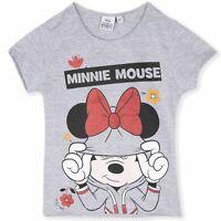 Disney Minnie Mouse T-Shirt Imprimée Officiel Jersey Fille De 3 A 8 Âge 0898