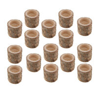 15pcs Rustic Wooden Branch Tree Tea Light  Birch Wood Candle Holders Wedding