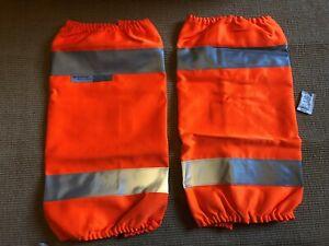 Hi-Viz Hi Vis Leg Gaiters Teflon Scotchguard Safety walking etc