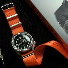 Zest Orange Seatbelt NATO Watch Strap (22mm), UK Supplier