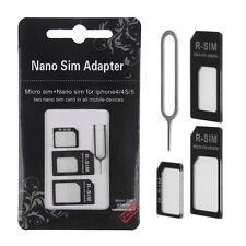 2pcs Carte SIM vers Micro Adapter standard Adaptateur Converteur Set Pour iPhone