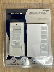 Harbor Breeze 745365 Universal Ceiling Fan Remote Control & Wall Mount 41179