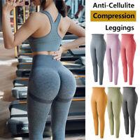 Womens Yoga Pants High Waist Leggings Pockets Push Up Sports Gym Elastic Workout