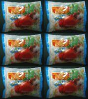 6 x WAI WAI Instant Noodles Thai Food Crab Flavour 55 g.