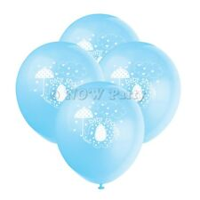 "BLUE UMBRELLAPHANTS Baby Shower Boy Party Decorations 12"" Latex BALLOONS x8"
