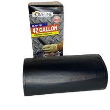 Heavy Duty Contractor Trash Bags 42 Gallon 13 Count Flap Tie Homeline No Box