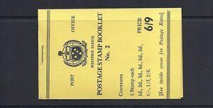 SAMOA 1962 booklet SG SB7 VF NH