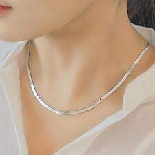 Legierung Silber Farbe Flach Schlange Knochen Halskette Charme männlichen Schmuc