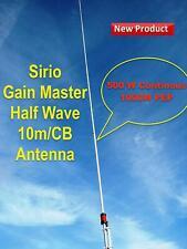 Sirio Gain-Master Hi-Tech Fiberglass HW Half Wave 10m & CB Base Antenna