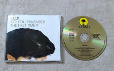 "CD AUDIO INT/ PULP ""DO YOU REMEMBER THE FIRST TIME?""  CD SINGLE RARE"
