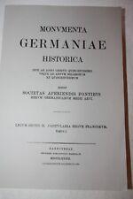 Monumenta Germaniae historica Tome 1