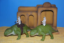 Star Wars Vintage 2 Dewback + 2 Figuren Sammlung 100% originale 1977