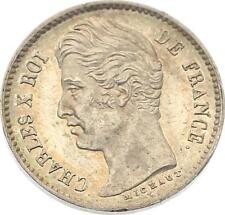 O4586 RARE 1/4 Franc Charles X 1828 A Paris Argent SPL ->F offre
