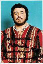 LUCIANO PAVAROTTI opera tenor signed photo as the Duke of Mantua